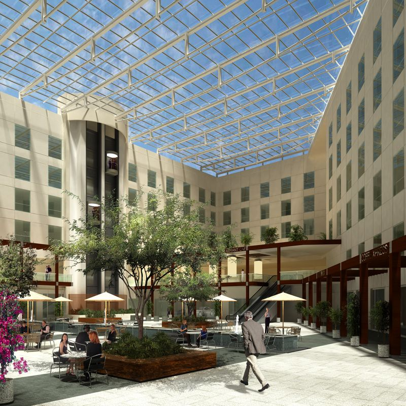 Glazing Consultants International, LLC, working on Courtyard by Marriott hotels in Mexico City area