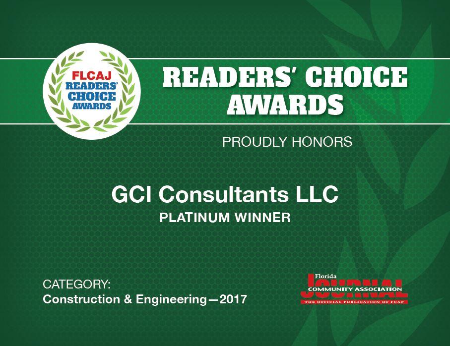 GCI Wins Readers Choice Awards