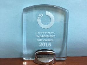 GCI Consultants - Committed to Engagement Award 2016