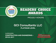 GCI Consultants - Readers Choice Award 2018