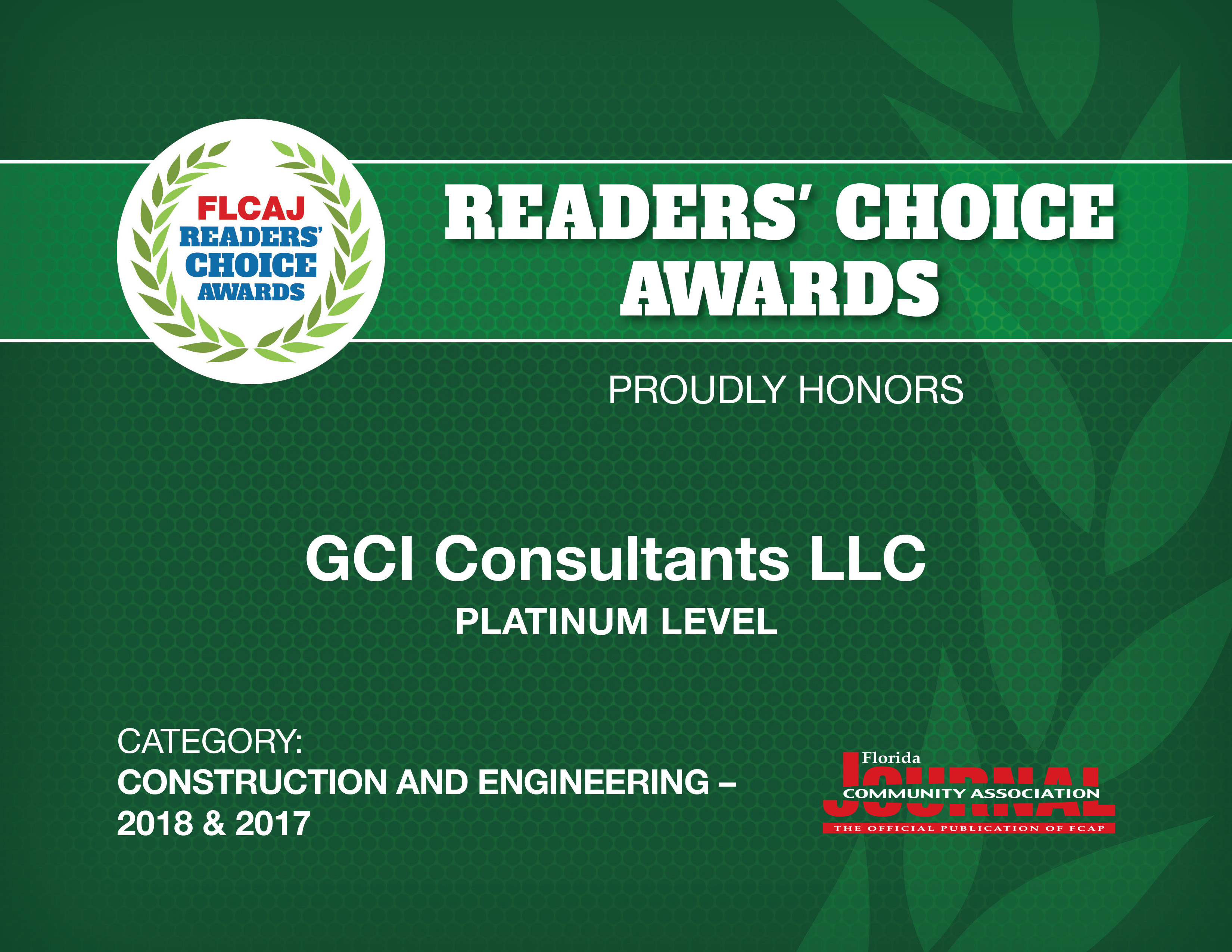 GCI Wins Readers Choice Awards Again